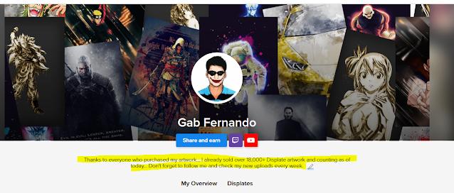 Gab Fernando profile description on Displate