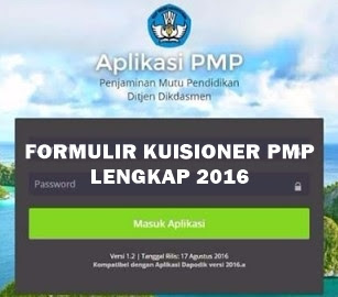Formulir Kuisioner SIM PMP Lengkap 2016