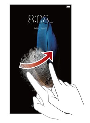 Unlocking the screen