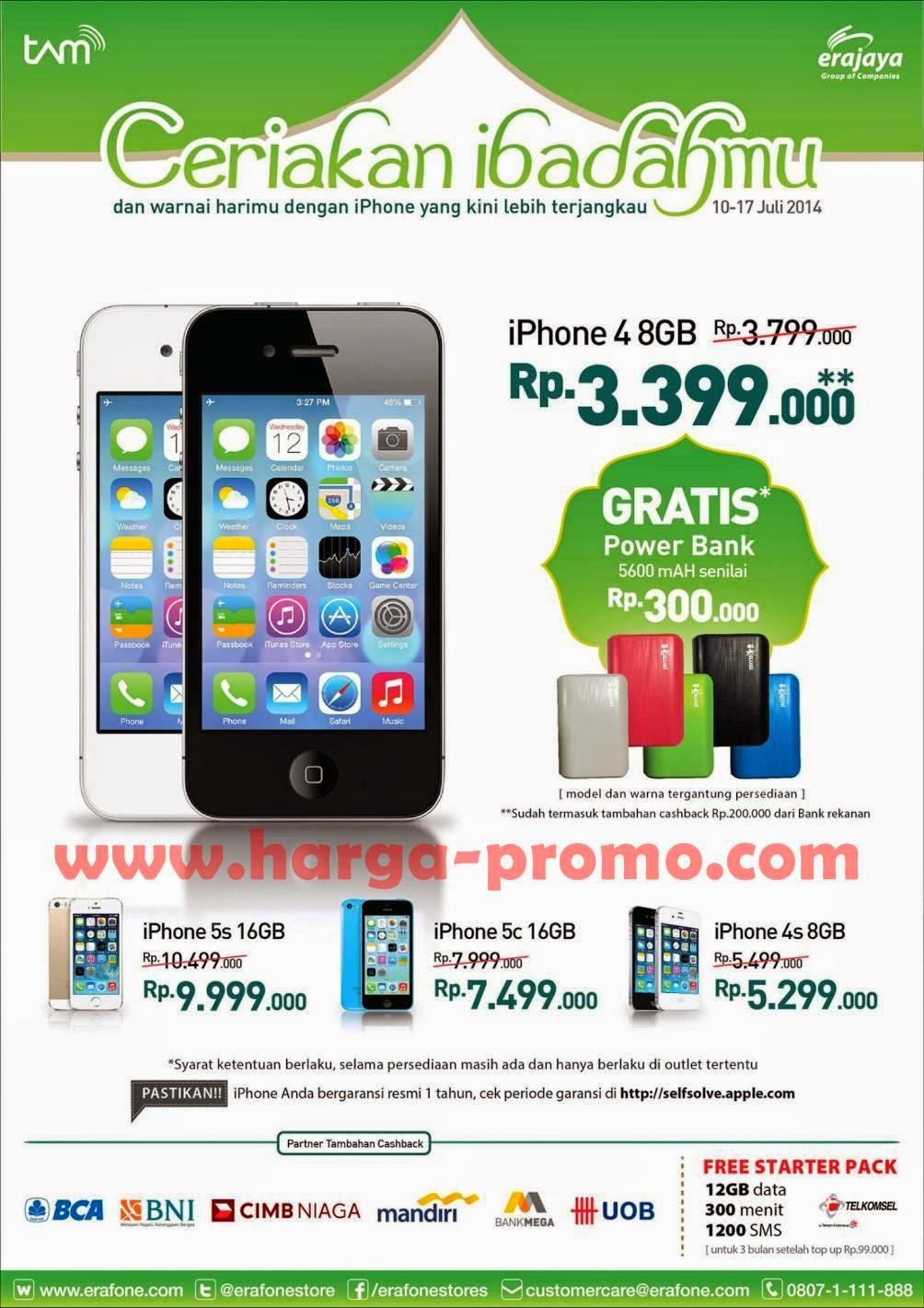 Promo iPhone di ERAFONE Periode 10 - 17 Juli 2014 ~ promosi katalog a50426f77b