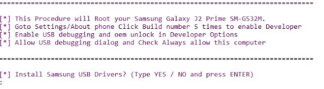Cara Root Samsung Galaxy J2 Prime SM-G532F/M/G dengan Mudah