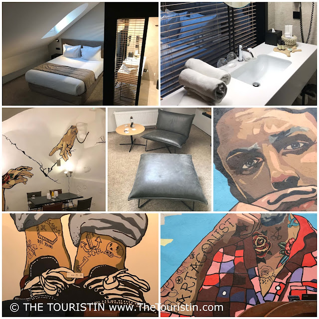 Stylish rooms and street art at the Artagonist Hotel in Vilnius in Lithuania