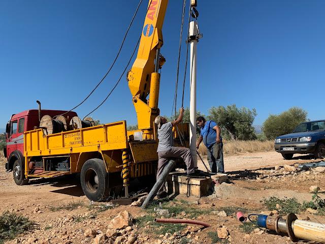 Ολοκληρώνονται οι εργασίες για την αποκατάσταση της γεώτρησης στο Μάνεσι