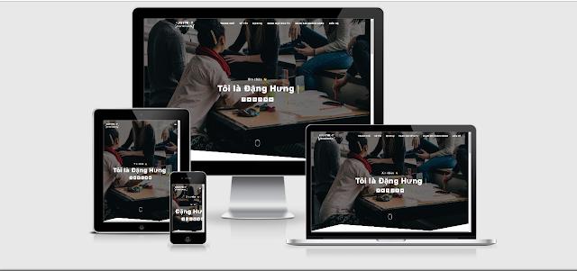 Template Blogger Landing Page Giới Thiệu Cá Nhân