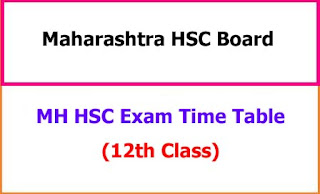 MH HSC Exam Time Table 2021