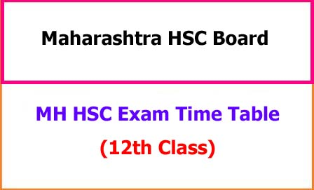 MH HSC Exam Time Table