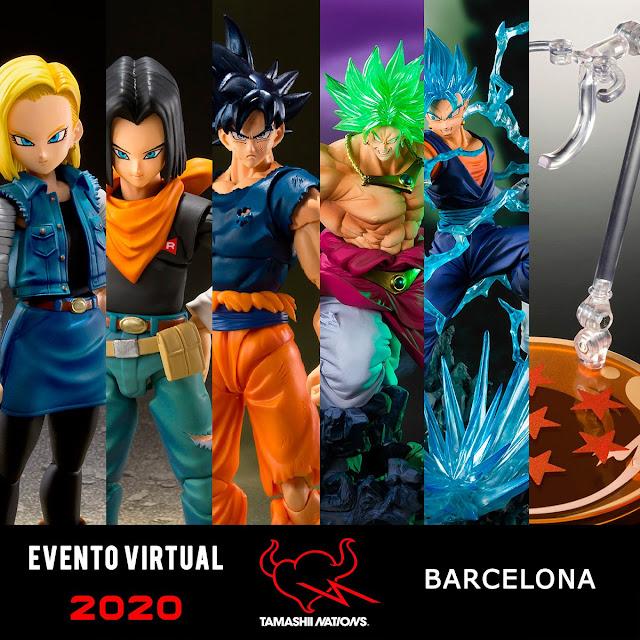 Tamashii Nations España cambia la fecha de su evento virtual y venta de figuras exclusivas.