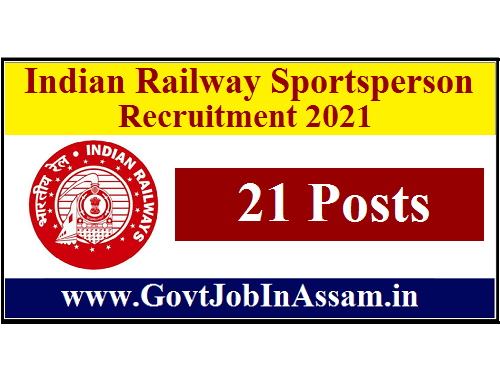 Indian Railway Sportsperson Recruitment 2021 :: Apply For 21 Vacancy