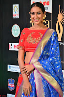 Priya Shree in Beautiful Blue Saree at IIFA Utsavam Awards 2017  Day 2    HD Exclusive Pics 30.JPG