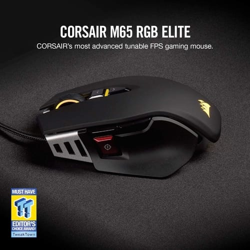 Review Corsair M65 RGB Elite Wired FPS Gaming Mouse