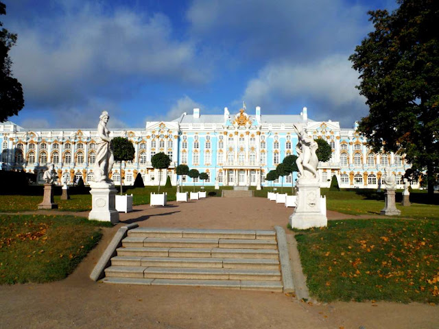 The Catherine Palace and its gardens, St. Petersburg