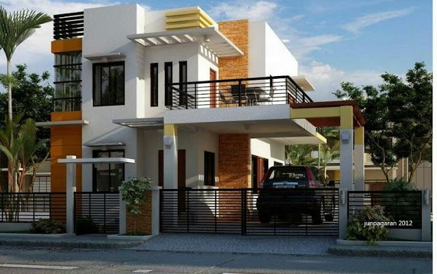 simple modern 2 storey house design
