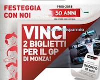 Logo Concorso a premi ''30 anni Brico Io'': vinci 105 coppie di biglietti per il GP di Monza e 9,450 buoni sconto