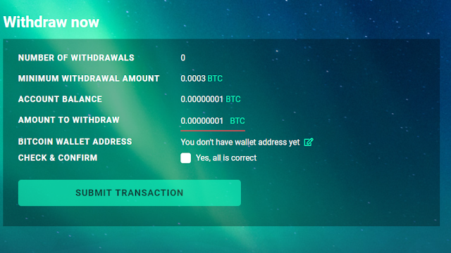 withdrawal trancehash