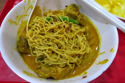 Traditional Sarawak Kolo Mee, curry kolo mee