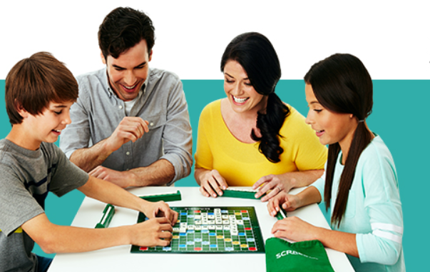 Mattel Scrabble Board Game for vocabulary development and spelling formation