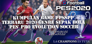 Kumpulan Game PPSSPP Terbaru 2020 Genre Sepak Bola 'PES' Pro Evolution Soccer