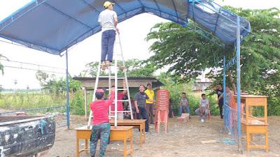 Pemerintah Wilayah Kecamatan Pammana Dirikan Posko Pencegahan dan Penanganan Covid-19