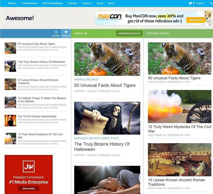 Тема в стил WordPress Mag