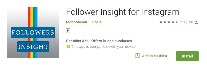 2- تطبيق Followers Insight For Instagram