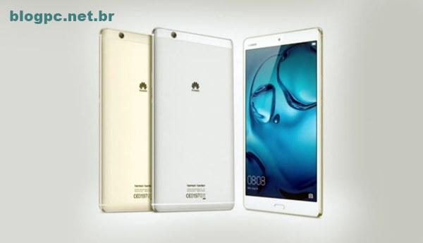 Tablet MediaPad M3 tem tela Quad HD e acabamento metálico