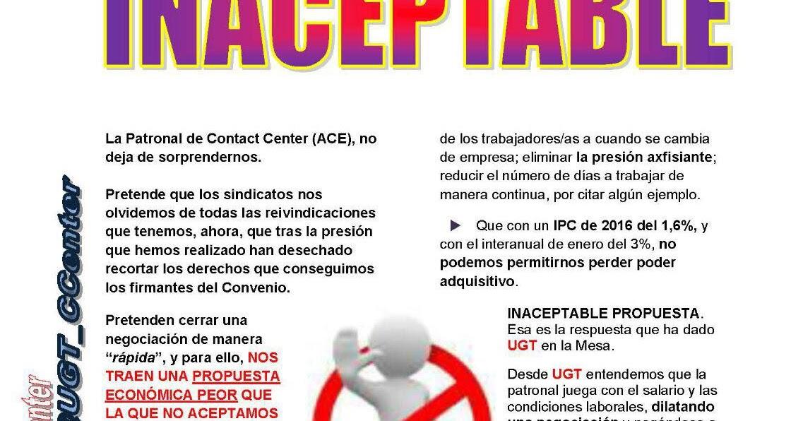 Ugt atento bcn comunicado negociaci n de convenio for Fuera de convenio 2017