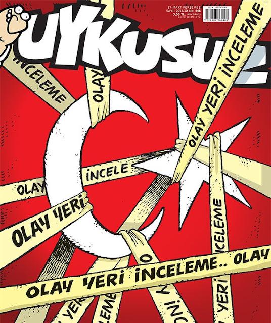 Uykusuz Dergisi - 17 Mart 2016 Kapak Karikatürü