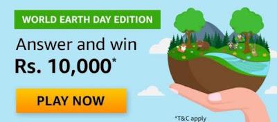 Amazon World Earth Day Edition Quiz Answers
