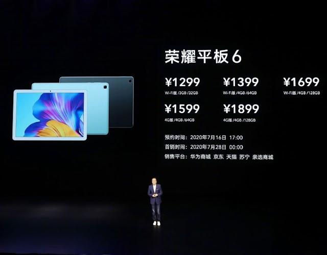 """10.1 """"Full HD ekranlı Honor Tablet 6, 185 $ 'dan başlıyor"""