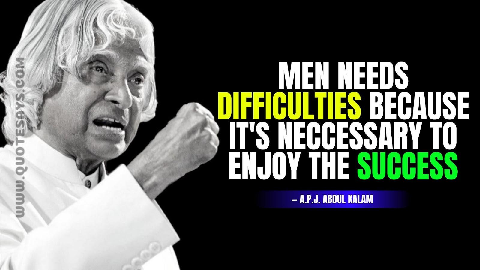 Apj Abdul Kalam Quotes, Abdul Kalam Quotes of Success