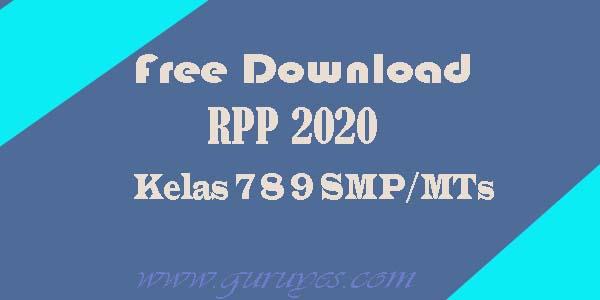 RPP 1 Lembar SMP/MTs K13 Kelas 7,8,9 Revisi 2020