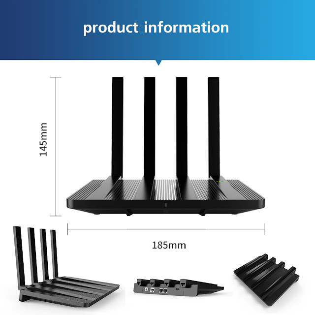 Cioswi 4G LTE Home Router 1200Mbps 4G Wireless Router 1WAN+2LAN Sim Cards Slot Wireless Solution CAT4 4G Modem WE2805AC-B