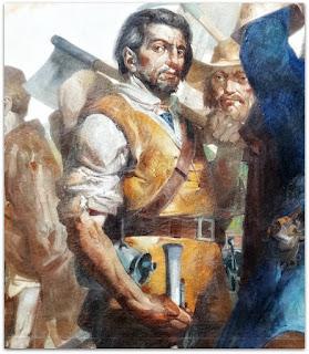 """O Conquistador Português - """"Formação do Rio Grande do Sul"""" - Aldo Locatelli (1960), Teatro do Sesi, FIERGS, Porto Alegre"""