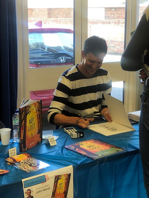 John Bond signing his debut book Not Lost