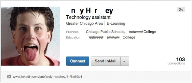 Funny profile pictures on LinkedIn