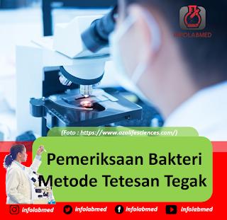 Pemeriksaan Bakteri Metode Tetesan Tegak