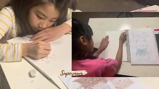 ฟรี ฝึกลูกวาดรูประบายสีง่าย ๆ ด้วย canva by supermum