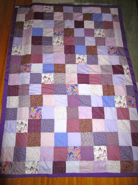 Art Adventure And Life Purple Quilt
