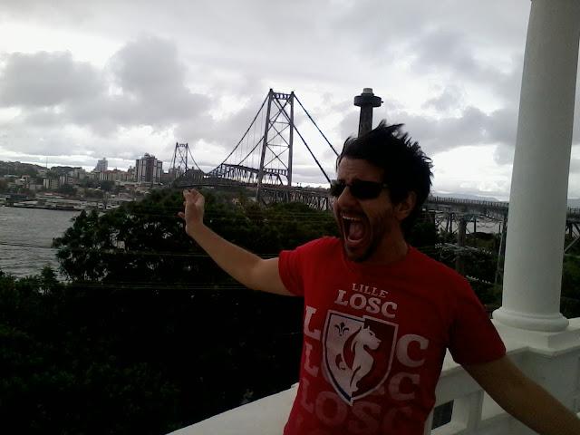 Vento, mirante, praça Hercílio Luiz, Florianópolis - Santa Catarina, Floripa