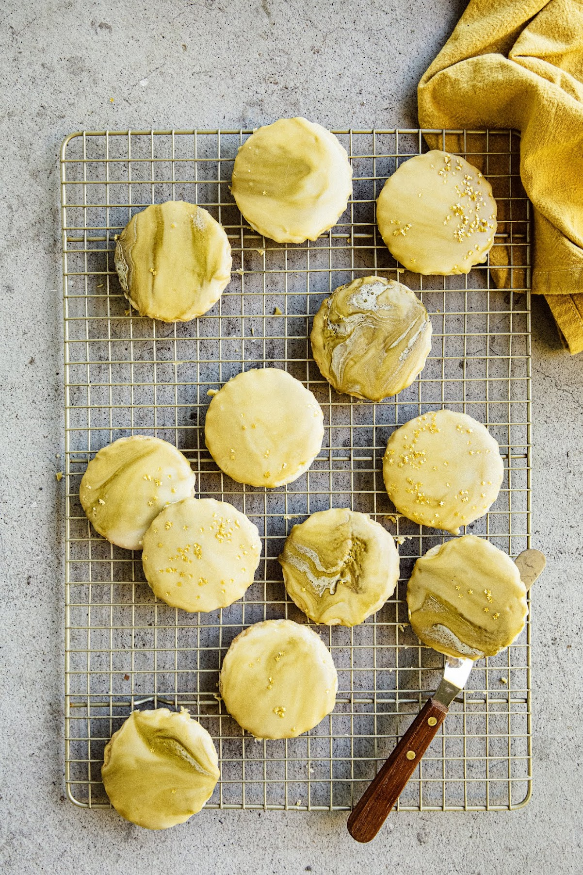 buttered rum shortbread cookies