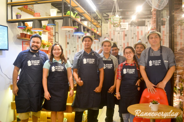 owners and staffs of Beans and Blossoms Cafe Malolos