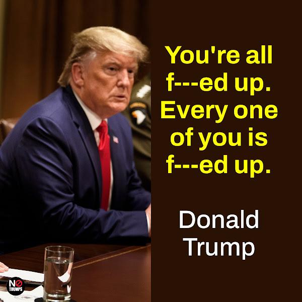 You're all f---ed up. Every one of you is f---ed up. — Donald Trump