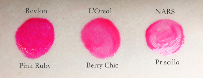 L'Oreal Colour Riche Le Gloss Berry Chic swatch