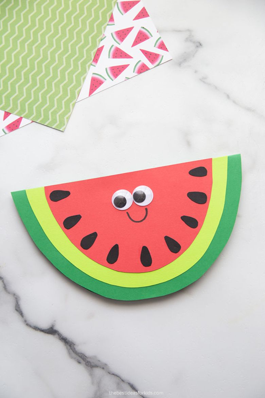 watermelon craft  - summer camp craft for kids