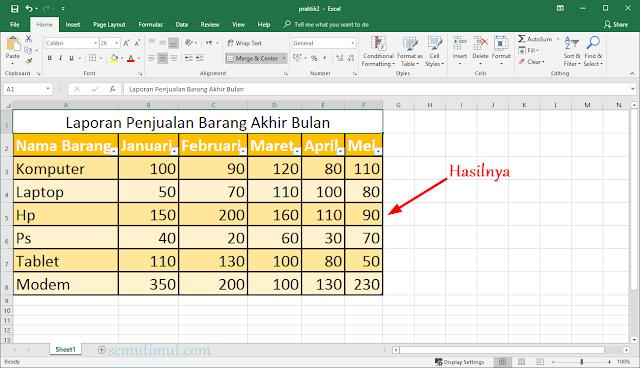 cara membuat tabel di excel dengan mudah