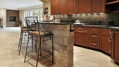 Barras de cocina en piedra