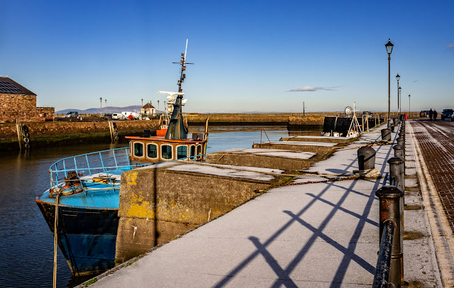 Photo of another view of snow at Maryport Harbour