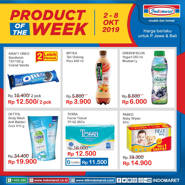 #Indomaret - #Katalog Promo of The Week Periode 02 - 08 Okt 2019