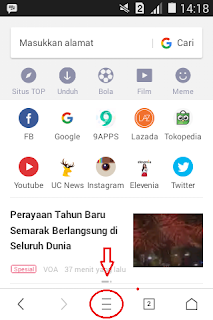Tutorial Mengganti Tema/Background UC Browser 2