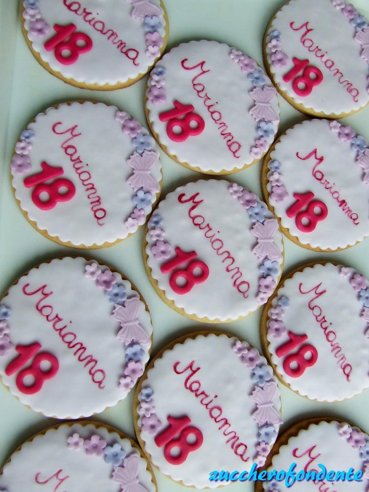 Zuccherofondente Biscotti Decorati 18 Anni